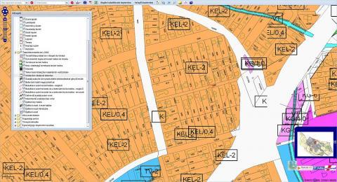Városgazda - Településrendezési terv övezeti besorolásai